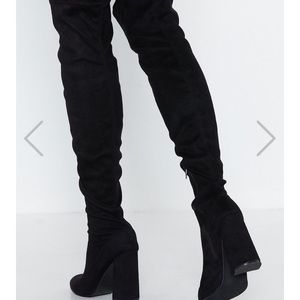 039fcc02aa Thigh High Nasty Gal heeled boots.  50  100. Thigh High Raise the Stakes  Boots size 8